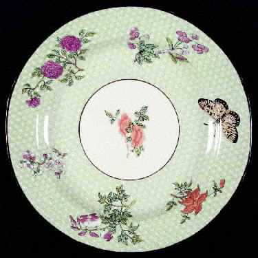 Cornelia-green china plate