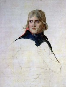 Bonaparte, unfinished portrait by Jacques Louis David