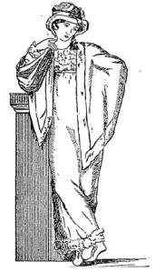 1811 Regency dress, New York Times illustration, 1913