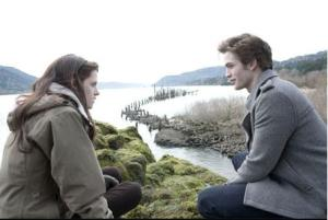 Edward and Bella at the River's Edge