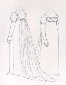 Pattern of gown