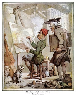 Rowlandson, studio art forger, 1790's
