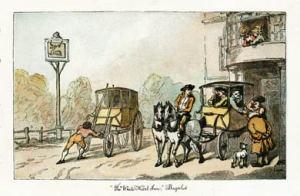 Rowlandson, White Hart Bagshot, 1790's