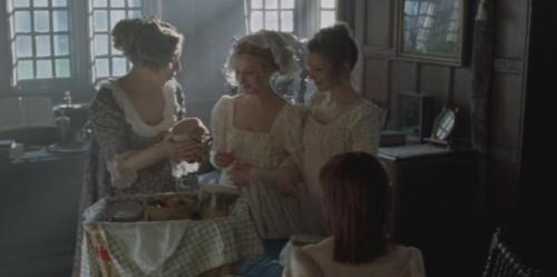 Mrs. Bennet brings stilton cheese and loganberries.