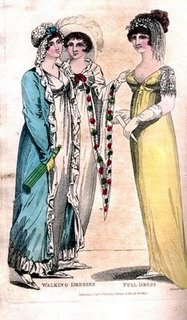Walking dresses, September 1805, Lady's Monthly Museum