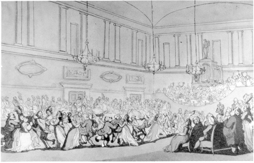 Dancing in the Upper Rooms, Bath, Rowlandson