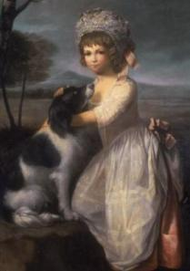Girl with her dog, British School, 1775, Sudley House