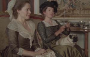 Mrs. Norris, Lady Bertram and pug