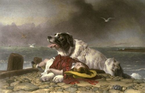Edwin Landseer, Saved, Wikimedia Commons