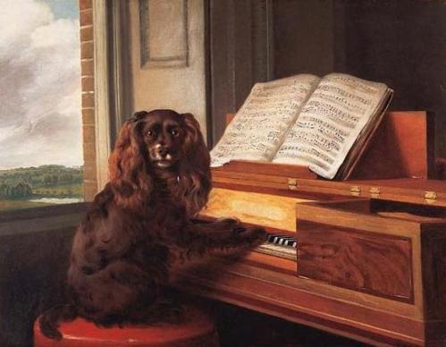 Portrait of an Extraordinary Musical Dog, Philip Reinagle, 1805, Virginia Museum of Fine Arts