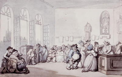 The Comforts of Bath, Rowlandson, The Pump Room, 1798