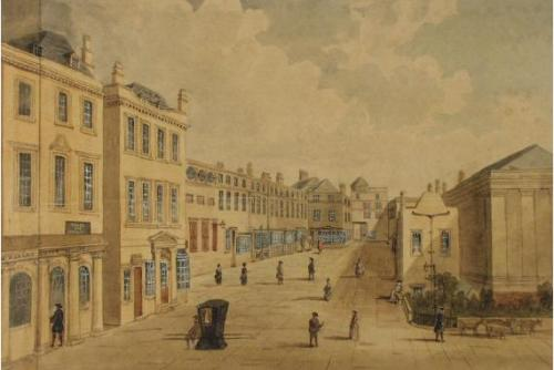Walks and Old Assembly Room, 19th c. copy of an 18th c. painting