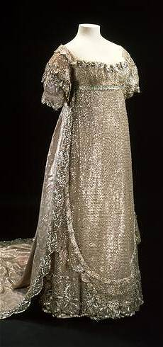 Princess Charlotte's silver net wedding gown, 1815