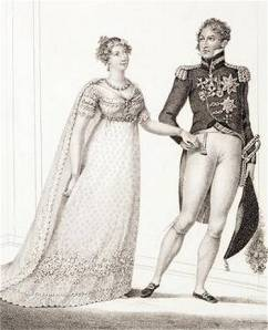 Princess Charlotte and Prince Leopold at their Wedding