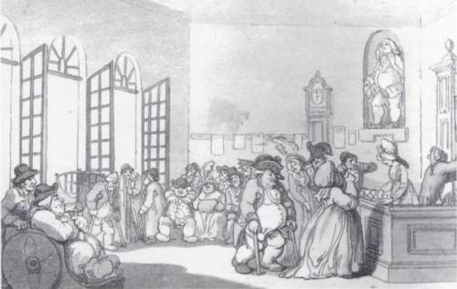 Rowlandson, Comforts of Bath, Pump Room