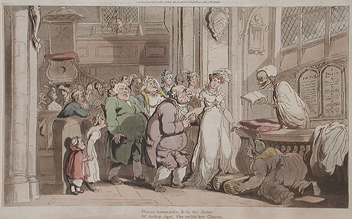 Satiric wedding scene, Thomas Rowlandson
