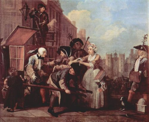 A Rake's Progress, Hogarth, Sedan Chair