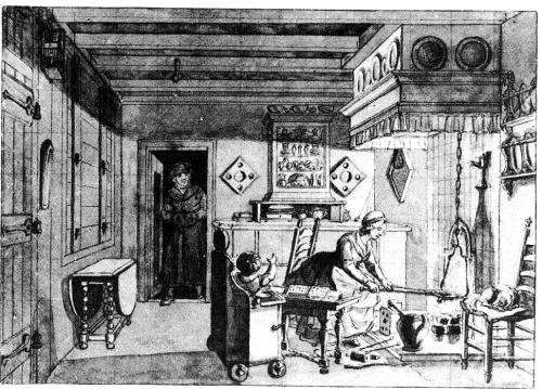18th century Dutch kitchen interior