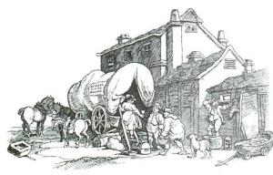 Kendall Flying Wagon, after Rowlandson