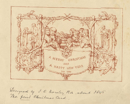 Merry christmas from jane austen s world with the first for Who commissioned the first christmas card in 1843