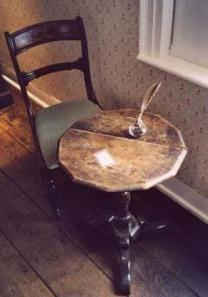 Jane's writing desk at Chawton.