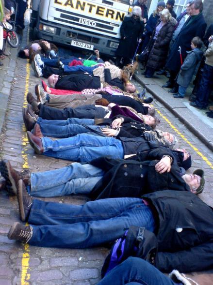 Littel Green Street Protestors