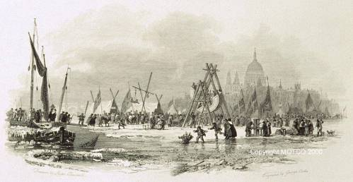 London Bridte Frost Fair 1814