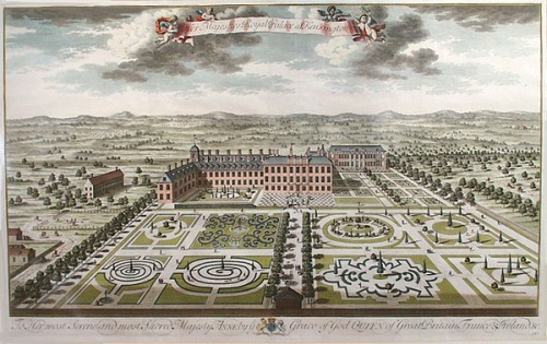 parterre-kensington_palace_from_the_south_by_kip_1724