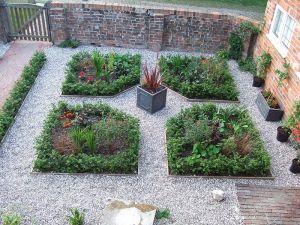A modern parterre garden