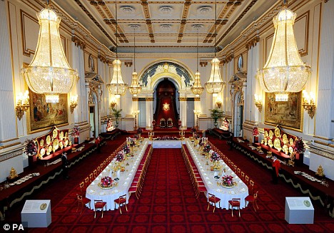 State banquet room, Buckingham Palace