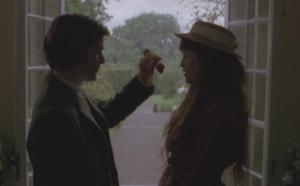 Tess is forced to eat a strawberry from Alec's hand
