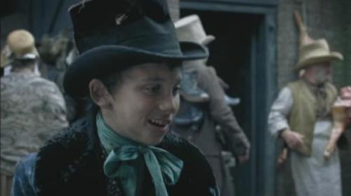 Oliver meets his first friendly Londoner, the Artful Dodger (Adam Arnold)