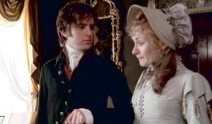 Edward awkwardly offers his arm to his betrothed in front of Elinor.