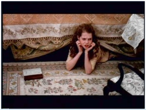 Margaret hiding in the library is a scene taken from the 1995 film.