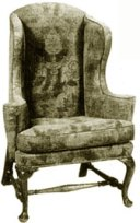Mid 18th century Wing Back Chair, England