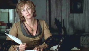 Think I'll add a few more Mrs. Dashwood lines in the script. Wonder if anyone will notice?