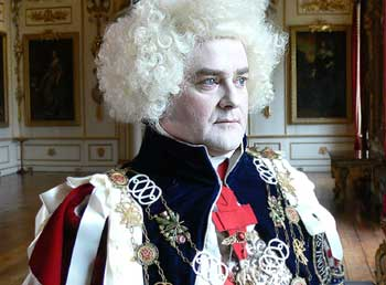 Hugh Bonneville as the Prince Regent before his transformation from fop to dandy