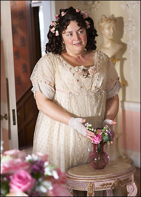 photograph of Ruth Jones as Flora Finching