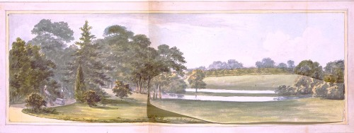 Whiton, View from the Saloon Before, Humphry Repton, 1796