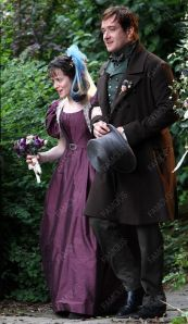 Arthur and Amy on their wedding day