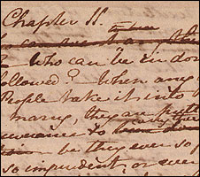 Sample of Persuasion in Jane Austen's handwriting