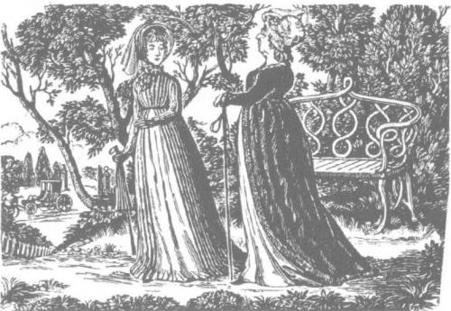 Lady Catherine de Bourgh and Elizabeth Bennet