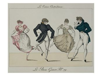 Quadrille Plate from Le Bon Genre, 1805