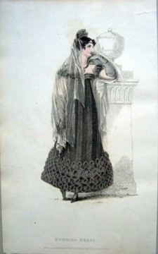 Evening Dress, Full Mourning, 1817
