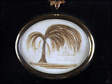 Locket with Jane Austen's hair (?)
