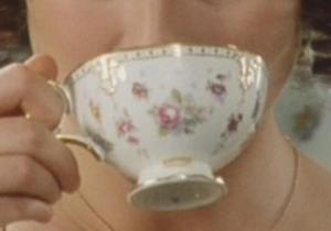 Close up of tea cup