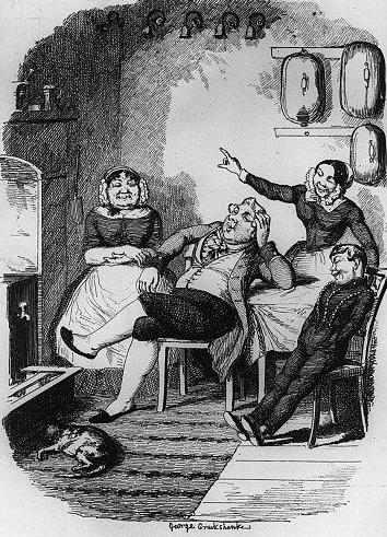 Oh, ah, let em ring again, George Cruikshank (Servants ignoring the bell)