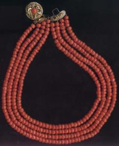 Early 19th century red coral necklace