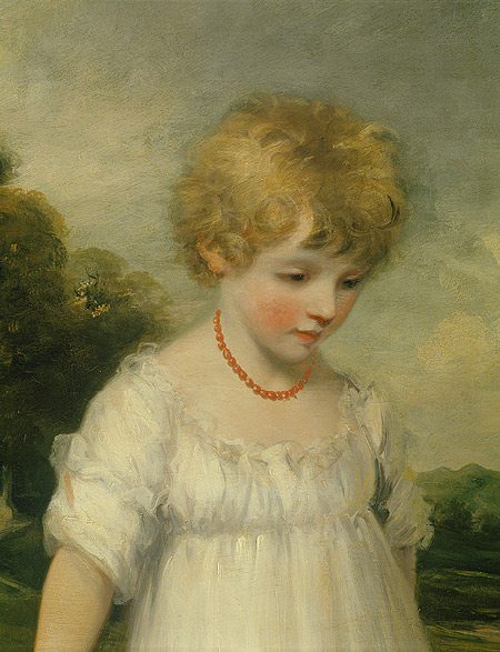The Sackville Children, detail, John Hoppner, 1796