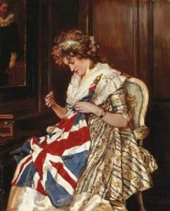 Sewing Victory, Talbot Hughes, 1900